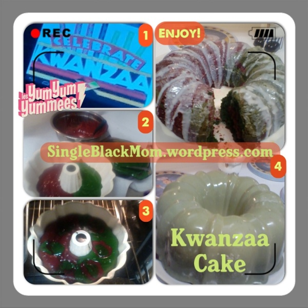 Kwanzaa Cake exclusively by  SingleBlackMom blog