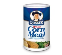 White cornmeal quaker hot water cornbread