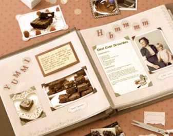 recipe scrapbook from mom to her children