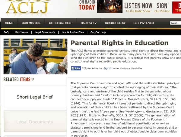 Parental rights in education