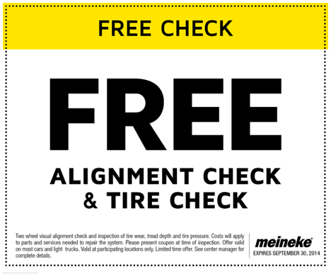 FREE ALIGNMENT AND TIRE CHECK