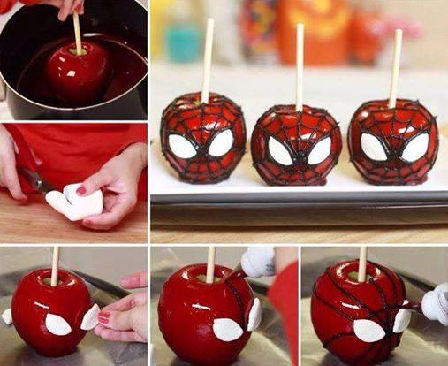 spiderman candy apple
