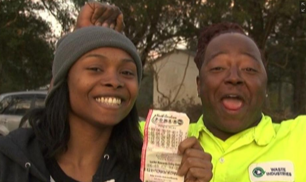 Marie Holmes wins lottery