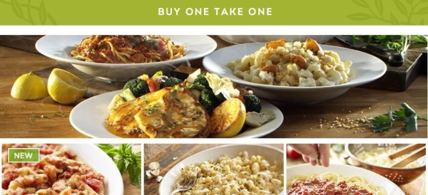 BUY ONE, TAKE ONE at Olive Garden is back