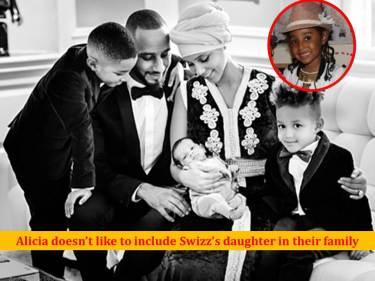 Alicia Keys struggles to accept Swizz Beatz's daughter by Jahna Sabastian