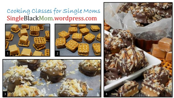 Josee and Mommy - Carmel Pretzel Poppers